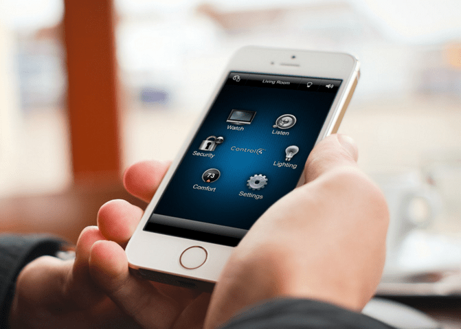 The Control4 App. Home is where your phone is!